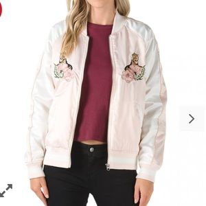 NWHT tags Vans Souvenior Satin Embroidered Jacket